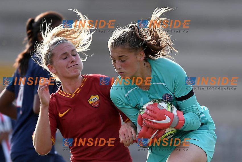 Amalie Thestrup of AS Roma  , Alice Pinguet PSG <br /> Roma 8/9/2019 Stadio Tre Fontane <br /> Luisa Petrucci Trophy 2019<br /> AS Roma - Paris Saint Germain<br /> Photo Andrea Staccioli / Insidefoto