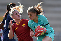 Amalie Thestrup of AS Roma  , Alice Pinguet PSG <br /> Roma 8/9/2019 Stadio Tre Fontane <br /> Luisa Petrucci Trophy 2019<br /> AS Roma - Paris Saint Germain<br /> Photo Andrea Staccioli / Insidefoto