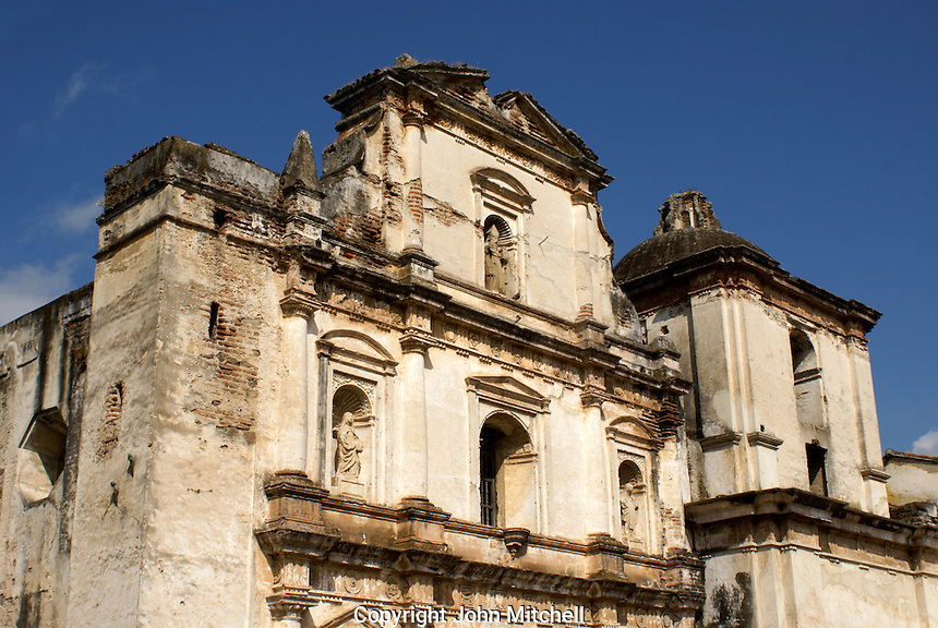 Iglesia San Augustin or Saint Augustine Church in Antigua, Guatemala. Antigua is a UNESCO World heritage site...