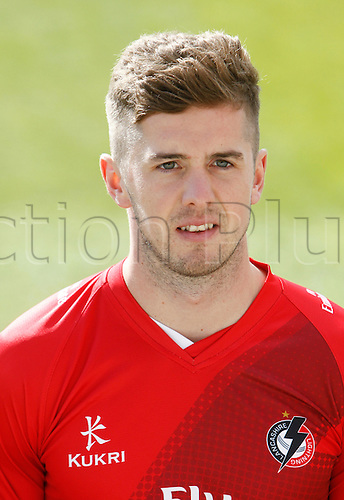 08.04.2016. Old Trafford, Manchester, England. Lancashire County Cricket Press Call. Lancashire bowler Toby Lester.
