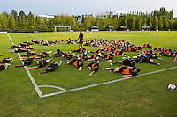 BEAVERTON, Ore. - August 9-12, 2013: 2013 US Soccer National Combine held at Nike Headquarters.