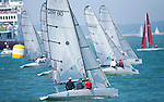 Image licensed to Lloyd Images <br /> Aberdeen Asset Management Cowes Week 2015. Day 1 of racing in the Solent. Picture shows RS Elite class race start Credit: Lloyd Images