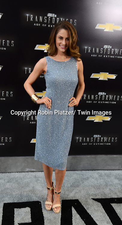 "Madeline Mulqueen attends the US Premiere of ""Transformers: Age of Extinction"" on June 25, 2014 at The Ziegfeld Theatre in New York City, New York, USA."
