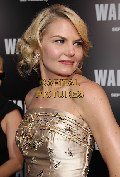 "Jennifer Morrison.""Warrior"" World Premiere held at Arclight Cinemas, Hollywood, California, USA..September 6th, 2011.headshot portrait gold strapless embroidered half length dress .CAP/ADM/RE.©Russ Elliot/AdMedia/Capital Pictures."