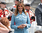First lady Melania Trump participates in the White House Easter Egg Roll on the South Lawn of the White House in Washington, DC on April 22, 2019.  The White House Easter Egg Roll is a tradition that dates from 1878 and the presidency of US President Rutherford B. Hayes.<br /> Credit: Ron Sachs / CNP<br /> (RESTRICTION: NO New York or New Jersey Newspapers or newspapers within a 75 mile radius of New York City)