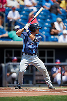 West Michigan Whitecaps catcher Brady Policelli (6) at bat during a game against the Quad Cities River Bandits on July 23, 2018 at Modern Woodmen Park in Davenport, Iowa.  Quad Cities defeated West Michigan 7-4.  (Mike Janes/Four Seam Images)