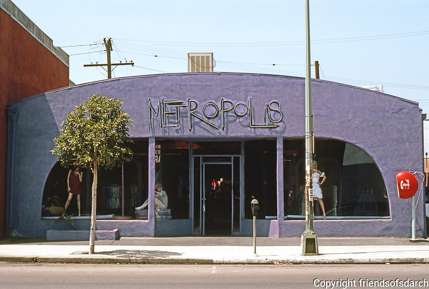 "Los Angeles: ""Metropolis"" Dress Shop, Santa Monica Blvd., Hollywood. Photo '82."