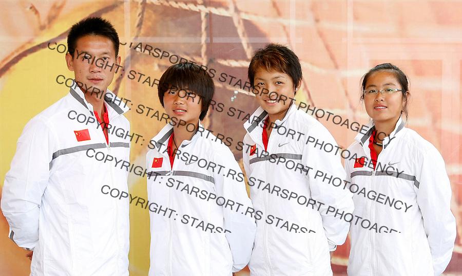 Tenis, World Championship U-14.Official team photo.China girls   team.from left,  Feng Liu, Yi Hong Li, Zi Yue Sun and Qiuyu Ye .Prostejov, 03.08.2010..foto: Srdjan Stevanovic/Starsportphoto ©