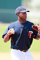 Minnesota Twins minor league third baseman Jamaal Hawkins during a game vs. the Boston Red Sox in an Instructional League game at Lee County Sports Complex in Fort Myers, Florida;  October 1, 2010.  Photo By Mike Janes/Four Seam Images