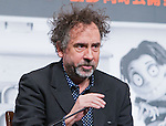 "December 3, 2012, Tokyo, Japan - Director Tim Burton attends a press conference for the film, ""Frankenweenie."" The film will be released in Japan movie theaters on December 15. (Photo by Christopher Jue/Nippon News)"