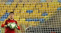 RIO DE JANEIRO, 29.06.2013 - COPA DAS CONFEDERAÇÕES - TREINO / Espanha -Iker Casillas da Espanha durante treinamento na véspera da partida final da Copa das Confederações contra a Espanha no Estádio do Maracanã na cidade do Rio de Janeiro, neste sábado, 29. (Foto: William Volcov / Brazil Photo Press).