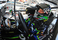 May 30, 2008; Dover, DE, USA; Nascar Sprint Cup Series driver J.J. Yeley during practice for the Best Buy 400 at the Dover International Speedway. Mandatory Credit: Mark J. Rebilas-US PRESSWIRE