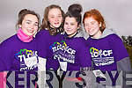Abbeyfeale friends Maria O'Connell, Ciara Houlihan, Rebecca Strker and Cliodhna pictured at the inaugural Tournafulla 5km Road Race for the charity TLC4CF (Cystic Fibrosis) last Sunday.