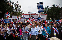 Mayoral candidates take part during the Bronx Dominican parade in New York July 28, 2013 by Kena Betancur / VIEWpress