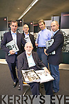 Padraig Kennelly pictured at the launch of the book Eyewitness and the website the kennelllyarchive.com  with his sons Jerry, Brendan, Padraig and Kerry in the library of the IT Tralee north campus on Thursday.
