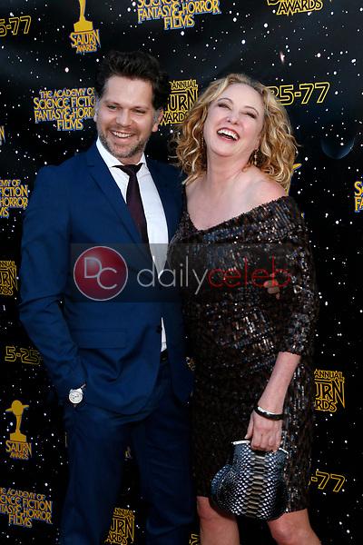 Nick Holmes, Virginia Madsen<br /> at the 43rd Annual Saturn Awards, The Castaway, Burbank, CA 06-28-17<br /> David Edwards/DailyCeleb.com 818-249-4998