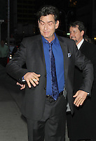 NEW YORK, NY - JANUARY 14: Charlie Sheen at Late Show with David Letterman in New York City. January 14, 2013. Credit:© RW/MediaPunch Inc. /NortePhoto
