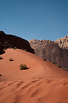 A sand dune in Wadi Rum