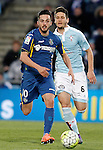 Getafe's Pablo Sarabia (l) and Celta de Vigo's Nemanja Radoja during La Liga match. February 27,2016. (ALTERPHOTOS/Acero)