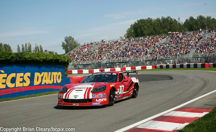 The #07 Corvette of Scott Russell and Paul Edwards races to GT victory in the Montreal 200, Circuit Gilles Villenueve, Montreal, Quebec, Canada, August 2010.  (Photo by Brian Cleary/www.bcpix.com)