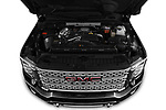 Car Stock 2020 GMC Sierra-2500-HD Denali 4 Door Pick-up Engine  high angle detail view