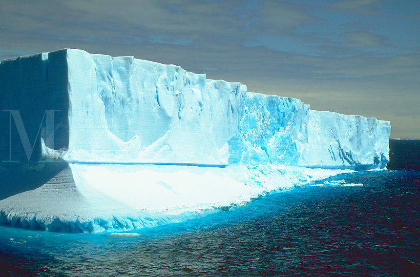 Large icebergs floating in Antarctic Sound, Antarctic Peninsula.