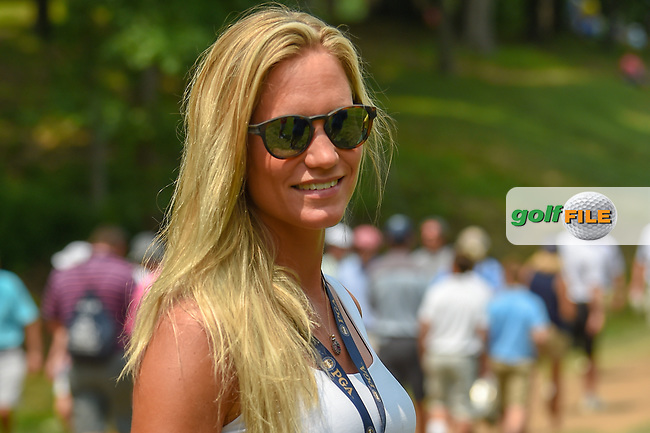 Rafael Cabrera Bello's (ESP) wife, Sofia follows Rafa down 11 during 4th round of the 100th PGA Championship at Bellerive Country Club, St. Louis, Missouri. 8/12/2018.<br /> Picture: Golffile | Ken Murray<br /> <br /> All photo usage must carry mandatory copyright credit (© Golffile | Ken Murray)