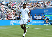 June 19th 2017, Queens Club, West Kensington, London; Aegon Tennis Championships, Day 1; Donald Young of USA looks on versus Nick Kyrgios of Australia