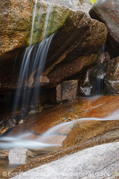A section of Champney Falls during the spring months. Located on Champney Brook next to Champney Falls Trail in Albany, New Hampshire USA