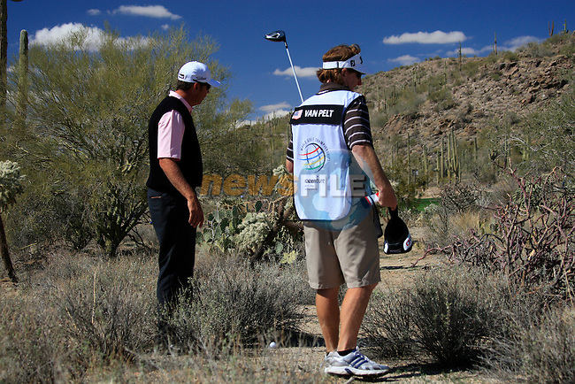 Bo Van Pelt (USA) in trouble during Day 2 of the Accenture Match Play Championship from The Ritz-Carlton Golf Club, Dove Mountain, Thursday 24th February 2011. (Photo Eoin Clarke/golffile.ie)