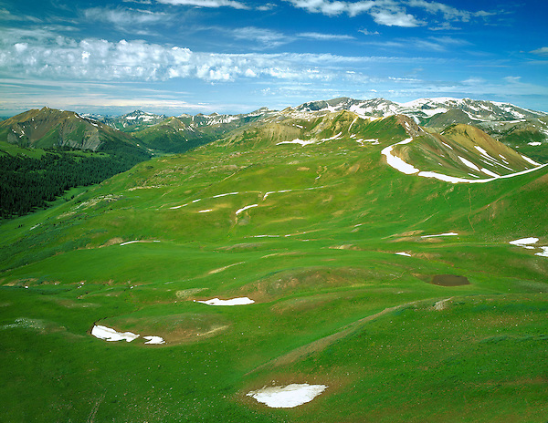 View of Schoefield Pass from Frigid Air Pass, Crested Butte, Colorado, USA