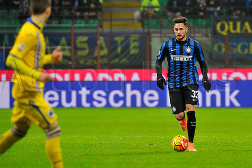 20.02.2016. Milan, Italy.  Danilo D'Ambrosio of FC Inter in action during the Italian Serie A League soccer match between Inter Milan and UC Sampdoria at San Siro Stadium in Milan, Italy.