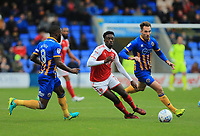 Jordy Hiwula of Fleetwood Town during the Sky Bet League 1 match between Shrewsbury Town and Fleetwood Town at Greenhous Meadow, Shrewsbury, England on 21 October 2017. Photo by Leila Coker / PRiME Media Images.