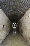 Israel, Shephelah, the Trappist Monastery in Latrun, the tunnel to the winery.