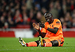 Liverpool's Sadio Mane looks on after his missed chance during the premier league match at the Emirates Stadium, London. Picture date 22nd December 2017. Picture credit should read: David Klein/Sportimage