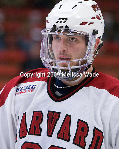 David Valek (Harvard - 22) - The Harvard University Crimson defeated the Dartmouth College Big Green 4-1 (EN) on Monday, January 18, 2010, at Bright Hockey Center in Cambridge, Massachusetts.