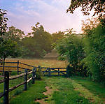 Early Morning at Old Lyme,CT Farm
