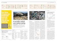 NRC Handelsblad (Dutch economic daily) on the gold mining project of Rosia Montana, Romania, 2013.09.17. Photos: Martin Fejer