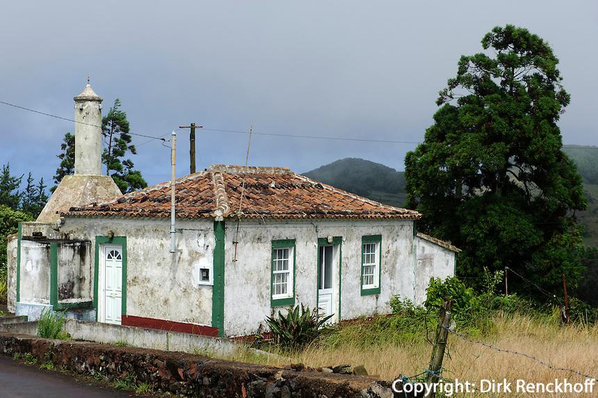 Haus bei Santo Espirito auf der Insel Santa Maria, Azoren, Portugal