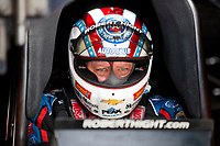 Nov 15, 2019; Pomona, CA, USA; NHRA funny car driver Robert Hight during qualifying for the Auto Club Finals at Auto Club Raceway at Pomona. Mandatory Credit: Mark J. Rebilas-USA TODAY Sports