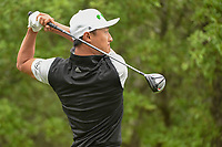 HaoTong Li (CHN) watches his tee shot on 1 during day 3 of the Valero Texas Open, at the TPC San Antonio Oaks Course, San Antonio, Texas, USA. 4/6/2019.<br /> Picture: Golffile | Ken Murray<br /> <br /> <br /> All photo usage must carry mandatory copyright credit (&copy; Golffile | Ken Murray)