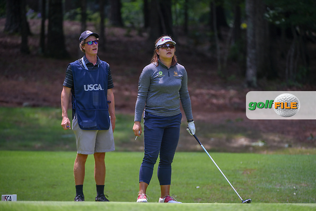 Wichanee Meechai (THA) looks over her tee shot on 18 during round 1 of the U.S. Women's Open Championship, Shoal Creek Country Club, at Birmingham, Alabama, USA. 5/31/2018.<br /> Picture: Golffile | Ken Murray<br /> <br /> All photo usage must carry mandatory copyright credit (© Golffile | Ken Murray)