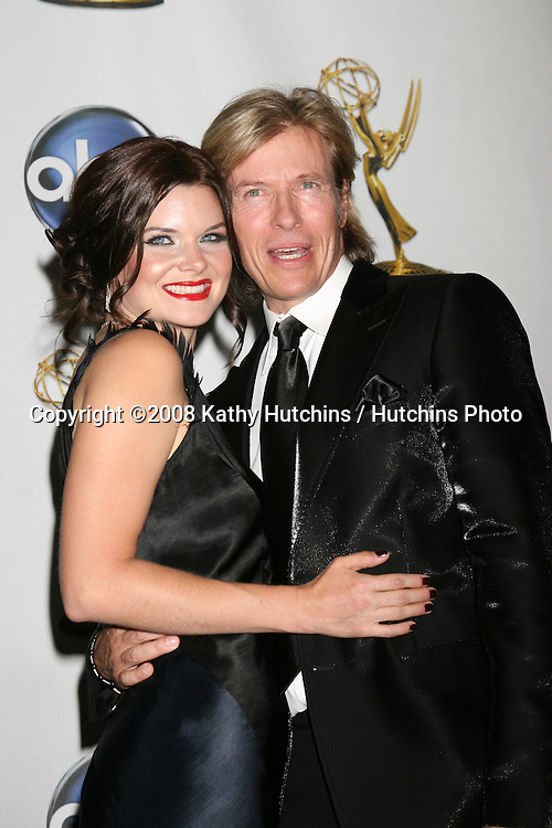 Heather Tom & Jack Wagner  in the Press Rom after presenting  at the Daytime Emmys 2008 at the Kodak Theater in Hollywood, CA on.June 20, 2008.©2008 Kathy Hutchins / Hutchins Photo .