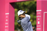 Amy Yang (KOR) tees off the 1st tee during Thursday's Round 1 of The Evian Championship 2018, held at the Evian Resort Golf Club, Evian-les-Bains, France. 13th September 2018.<br /> Picture: Eoin Clarke | Golffile<br /> <br /> <br /> All photos usage must carry mandatory copyright credit (&copy; Golffile | Eoin Clarke)