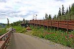 Fish Ladder at Whitehorse, Yukon, Canada.