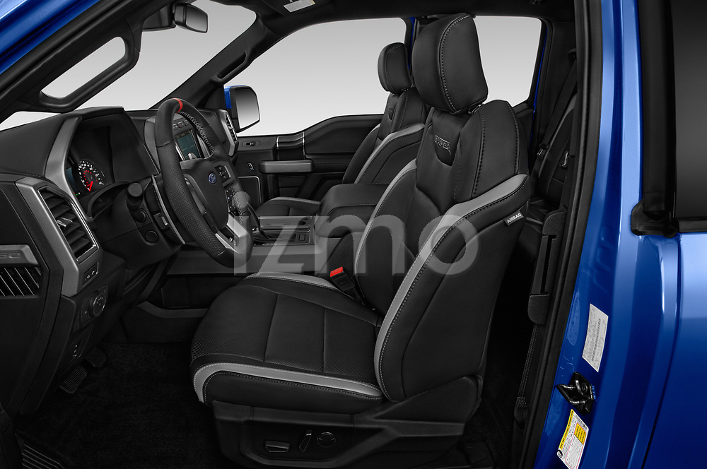 Front seat view of a 2018 Ford F-150 Raptor Select Doors Door Pick Up front seat car photos