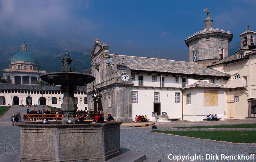 Santuario della Madonna d' Oropa bei Biella, Piemont, Italien, Unseco-Weltkulturerbe