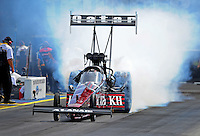 Jun. 19, 2011; Bristol, TN, USA: NHRA top fuel dragster driver Larry Dixon during the Thunder Valley Nationals at Bristol Dragway. Mandatory Credit: Mark J. Rebilas-