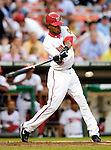 6 June 2007: Washington Nationals outfielder Nook Logan in action against the Pittsburgh Pirates at RFK Stadium in Washington, DC. The Nationals defeated the Pirates 6-5 in the second game of their 3-game series...Mandatory Credit: Ed Wolfstein Photo