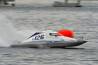 13-14 June, 2009, APBA Inboards, Walled Lake, Novi, MI. USA.Y-126, 1.5 Litre Mod hydroplane.©F. Peirce Williams 2009 USA.F.Peirce Williams.photography.ref: RAW (.NEF) File Available